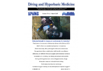 Diving and Hyperbaric Medicine March Issue